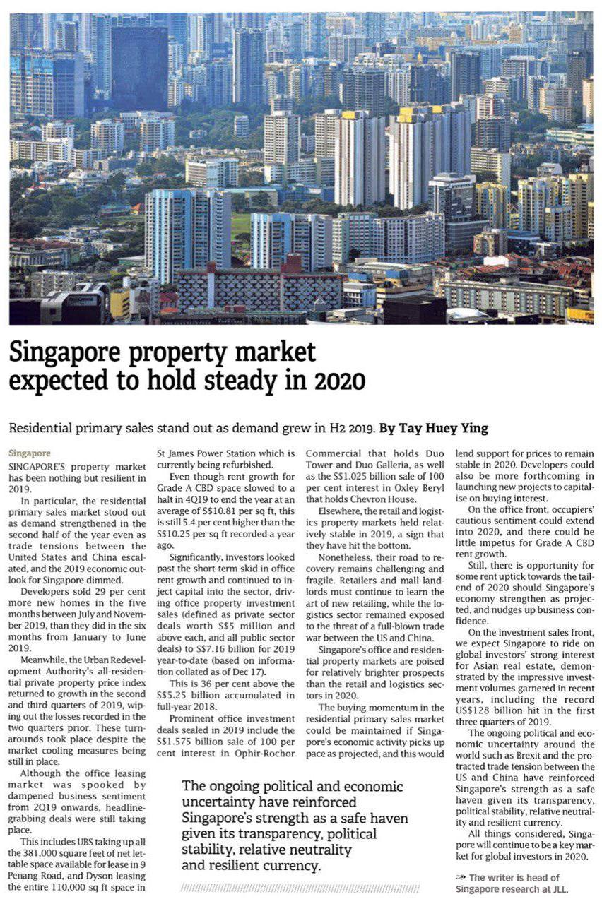 hyll-on-holland-Singapore property market expected to hold steady in 2020
