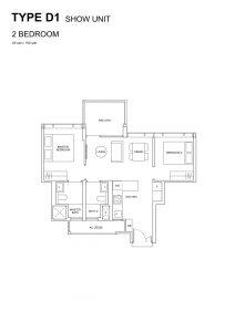 Hyll-on-Holland-Floorplan-2bedroom-Type-D1-700Sqft